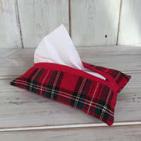 Tartan Fabric Tissue Holder