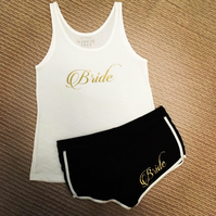 Personalised Brides wedding PJs