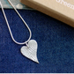 Fine Silver Contemporary Heart Shaped Necklace
