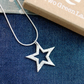 Fine Silver Star Shaped Necklace