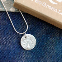 Fine Silver Circle Shaped Necklace