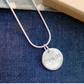 Fine Silver Circle Shaped Mum Necklace