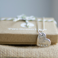 Fine Silver Handprint Necklace