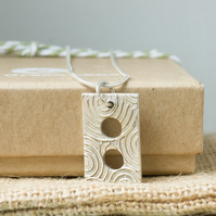 Fine Silver Rectangle Shaped Necklace