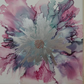 Hand painted flower tile, one of a kind, tile art