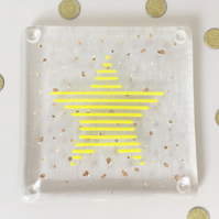 Star glass coaster