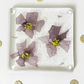 Purple flower glass coaster