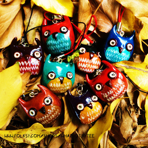 Snish Owl Phone Charms