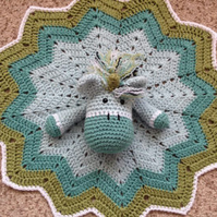 CLOVER Unicorn Crochet Blanket