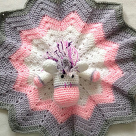 Heather Crochet Unicorn Blanket