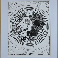 Ramasses - Lino Print - Limited Edition