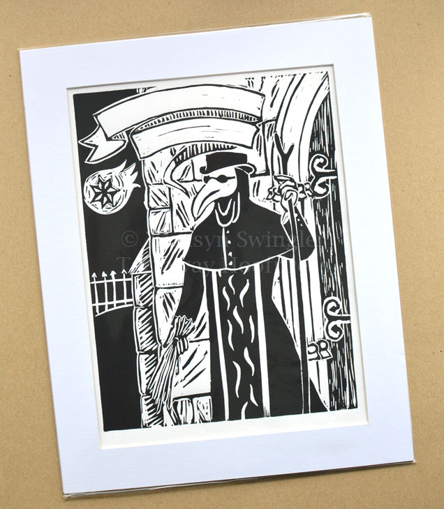Dr Theobald the Scourger - Lino Print - Limited Edition