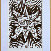 The Sun Resplendent - Lino Print - Limited Edition