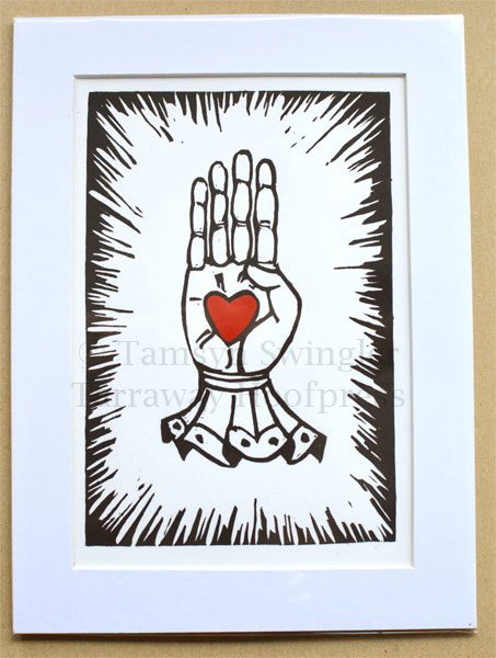 I.O.O.F Oddfellows Hand of Friendship - Lino Print - Limited Edition