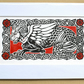 Beastie in Red - Lino Print - Limited Edition