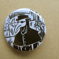 Plague Doctor 32 mm button badge