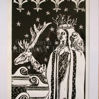 Winter Cometh - Limited Edition Lino Print - In Black or Dark Blue