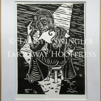 The Scold - Limited Edition - Lino Cut Print