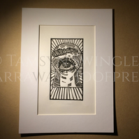 Third - All-Seeing Eye - Knowledge - Occult - Mystic - Limited Edition Linoprint