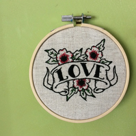 Embroidery flash tattoo love kit