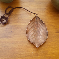 Birch Leaf Pendant