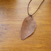 Skeleton Leaf Pendant