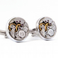 Watch Mechanism Cufflinks, Steampunk Style.