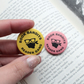 Yellow Book Badge - Literature Fans Book Bandits Reader Gang Cute Funny Badge