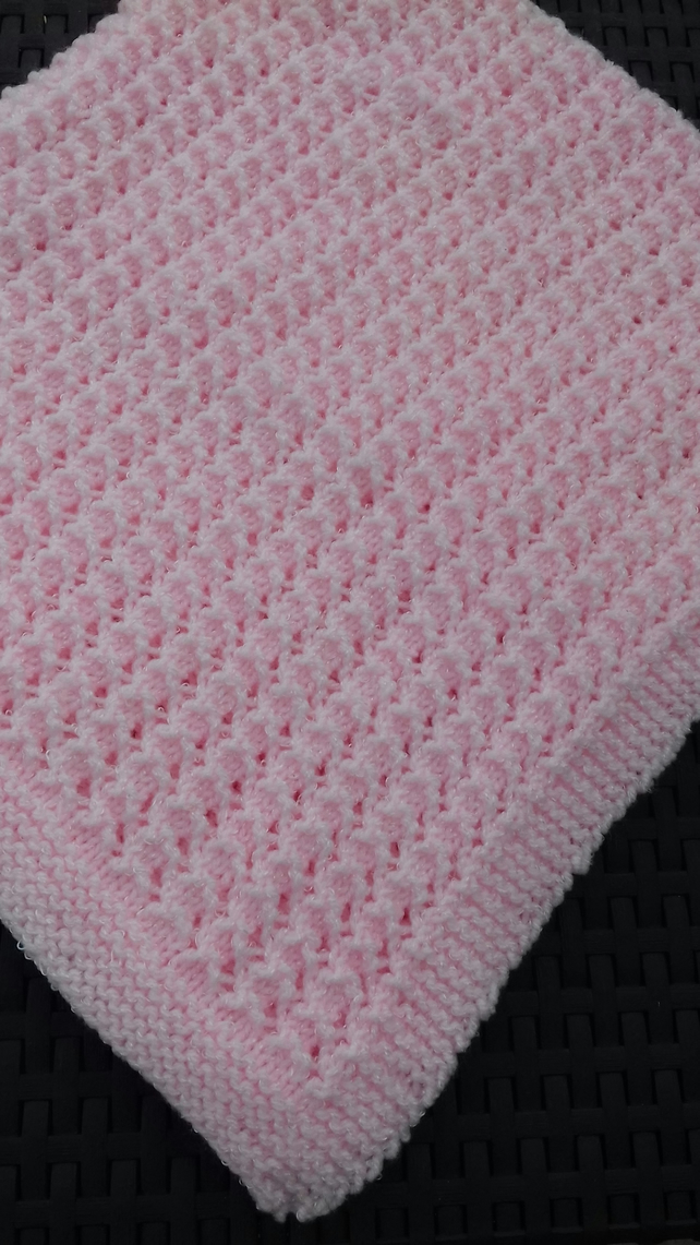 Blankets & Throws Nursery Bedding Hearty Handmade Knitted Baby Blanket