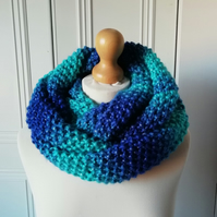 Soft chunky cowl or infinity scarf