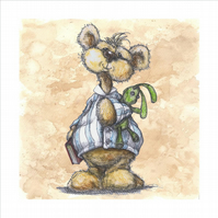 Woode Hill Bears Cards: Green Rabbit