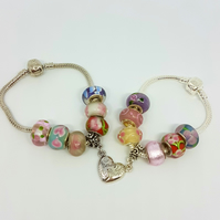 Mother Daughter Charm Bracelets