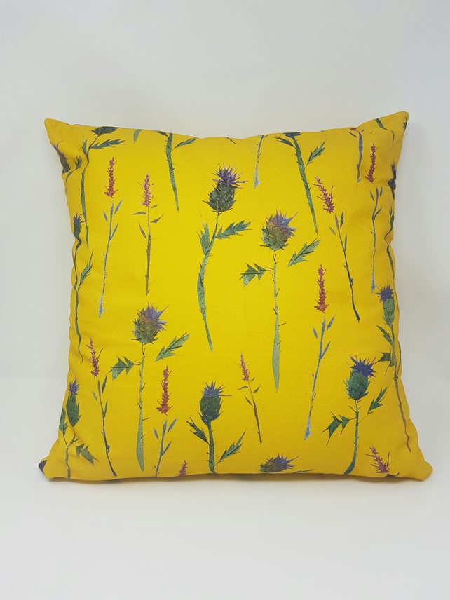 Thistle and Hebe Print Cushion Cover
