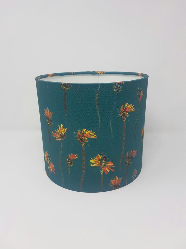 Orange Hawkweed Print Lampshade