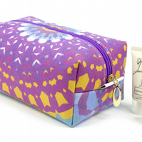 Large Makeup Bag In Exclusive Punto Belle Designed Fabric 'Mandala'