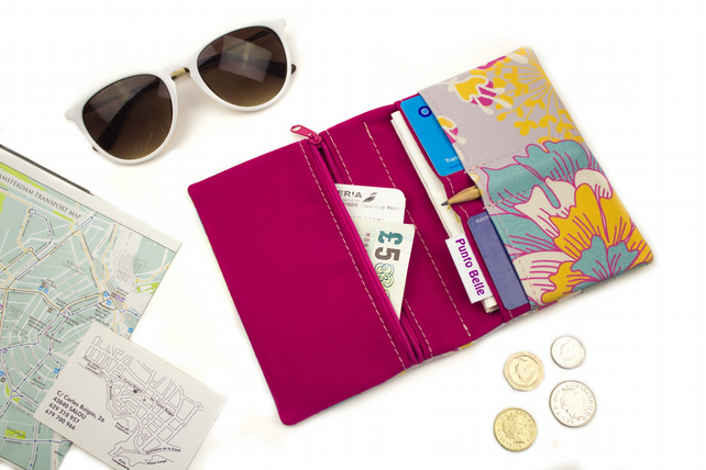 Travel Organiser In Exclusive Punto Belle Fabric 'Sunshine'