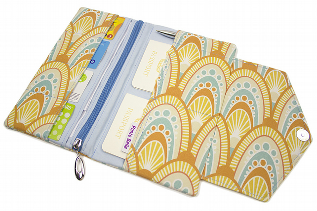 Family Travel Organiser In Exclusive Punto Belle Fabric 'Honey'