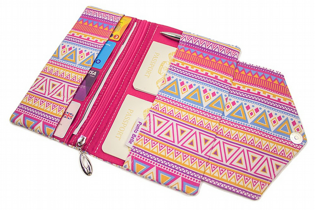 Family Travel Organiser In Exclusive Punto Belle Fabric 'Candy Crush'