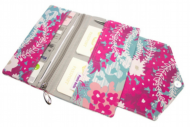 Family Travel Organiser In Exclusive Punto Belle Fabric 'Waves'