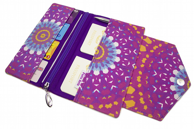 Family Travel Organiser In Exclusive Punto Belle Fabric 'Mandala''