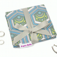 Mini Jewellery Roll In Exclusive Punto Belle Fabric 'Eco'
