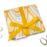 Mini Jewellery Roll In Exclusive Punto Belle Fabric 'Honey'