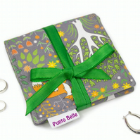 Mini Jewellery Roll In Exclusive Punto Belle Fabric 'Foxes'