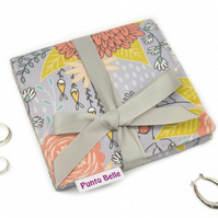 Mini Jewellery Roll In Exclusive Punto Belle Fabric 'Birds'