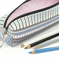 Pencil Case In Exclusive Punto Belle Designed Fabric 'Eco'