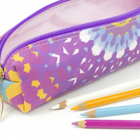 Pencil Case In Exclusive Punto Belle Designed Fabric 'Mandala'