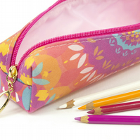 Pencil Case In Exclusive Punto Belle Designed Fabric 'Harmony'
