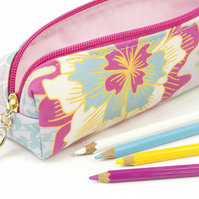 Pencil Case In Exclusive Punto Belle Designed Fabric 'Sunshine'