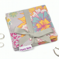 Mini Jewellery Roll In Exclusive Punto Belle Fabric 'Sunshine'