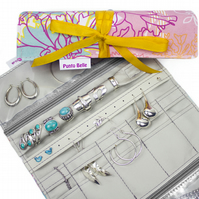 Ultimate Jewellery Roll In Exclusive Punto Belle Fabric 'Ice Cream'